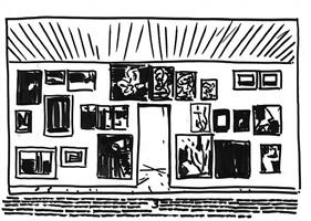 exhibition sketch by armen eloyan