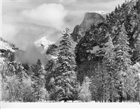 winter snow, yosemite national park, ca by bob kolbrener