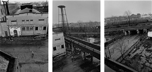 motor city wiping cloth, lawton ave triptych, detroit by steve shaw