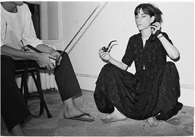 patti with pipe by judy linn