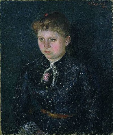 portrait of nini by camille pissarro