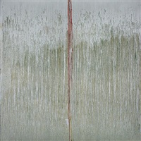 gold & silver moon beam by pat steir