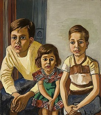 robert, helen and ed by alice neel