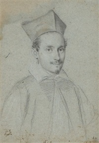 portrait of cardinal niccolo monaldesco by ottavio maria leoni