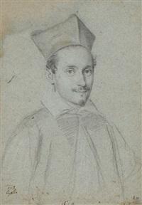 portrait of cardinal niccolo monaldesco by ottavio maria leoni