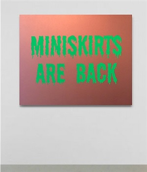 miniskirts are back by sylvie fleury