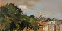 church and trees by seymour remenick
