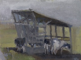 shelter with cows by laura adler