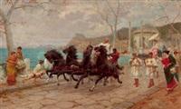 parade scene, rome by ettore forti