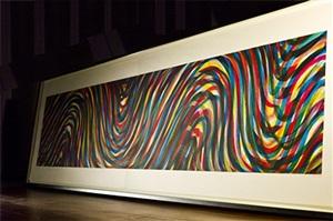 horizontal wavy lines by sol lewitt