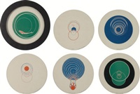 rotoreliefs (6 double-sided works) by marcel duchamp