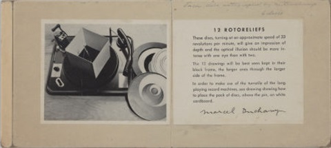 rotoreliefs 6 double sided works by marcel duchamp