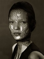 kate moss in torn veil, marrakech 1993 by albert watson