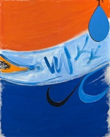 orange and blue for aphrodite by sir terry frost
