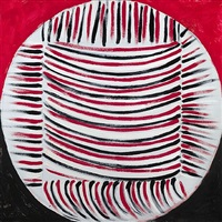 red, black and white delight by sir terry frost