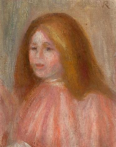 buste de jeune fille fragment by pierre auguste renoir
