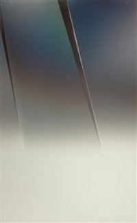 untitled (vapor drawing) by larry bell