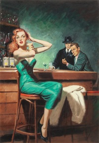 the squeeze, paperback cover by harry barton