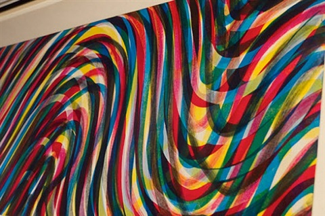 horizontal wavy lines (detail) by sol lewitt