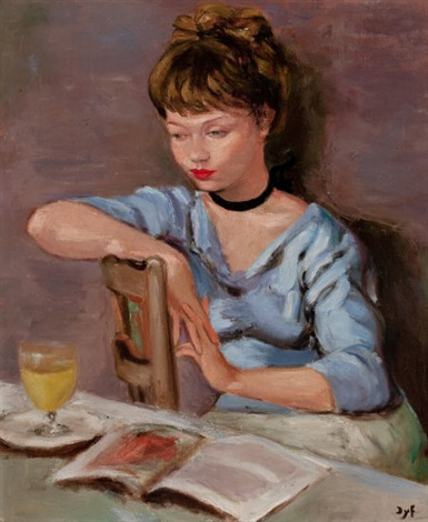femme lisant by marcel dyf