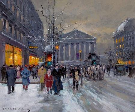 la madeleine en la neige by edouard léon cortès