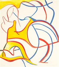 quatre lithographies (set of 2) by willem de kooning