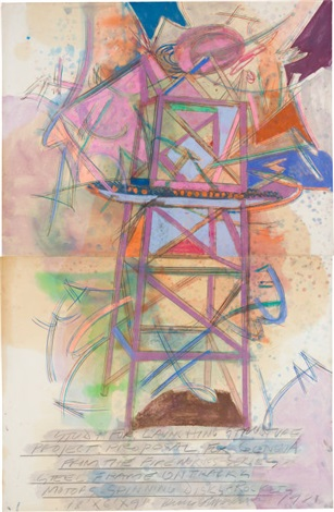 launching structure (study)(diptych) by dennis oppenheim