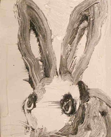 white bunny iii by hunt slonem