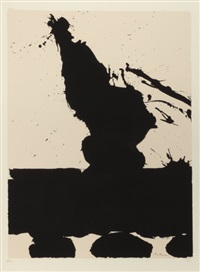 untitled, pl. 2 (from the africa suite) by robert motherwell