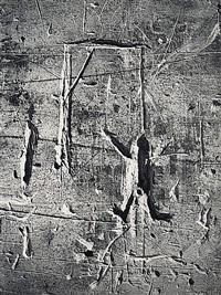 graffiti de la série viii, la magie: le pendu by brassaï