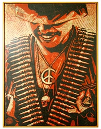 duality of humanity i by shepard fairey