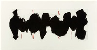 running elegy ii, red state by robert motherwell