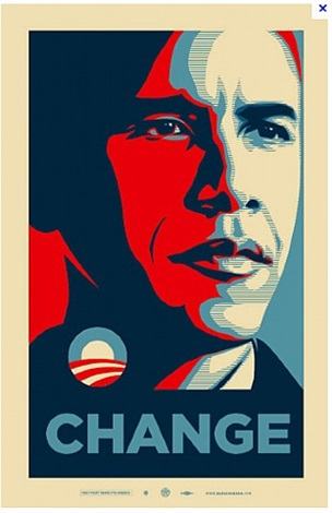 obama: change by shepard fairey