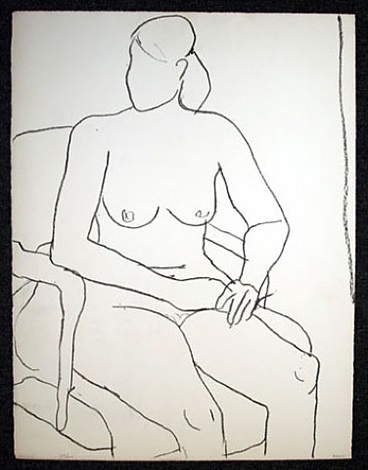 seated nude by richard diebenkorn