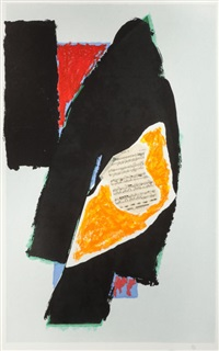 black for mozart by robert motherwell