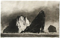 evening at stac an armin by norman ackroyd