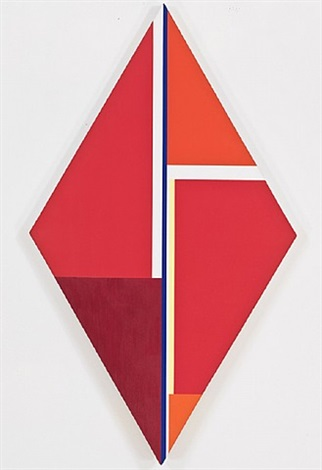 rhomb in red and scarlett by ilya bolotowsky