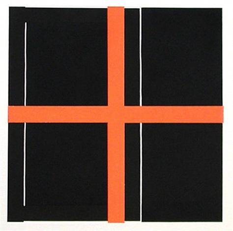 untitled (red/black) by harvey quaytman