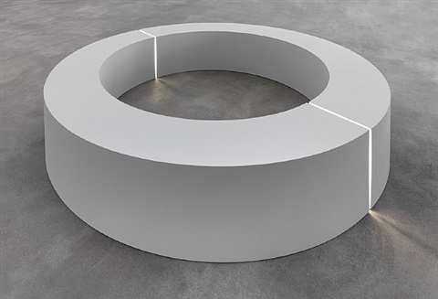 untitled (ring with light) by robert morris