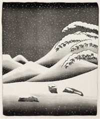 snow without color by david hockney