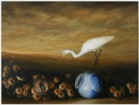 pheasant vase by david kroll