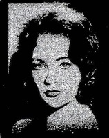 liz taylor (from pictures of diamonds) by vik muniz
