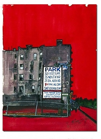 parking lot new york by burhan cahit dogançay