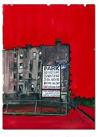 parking lot new york by burhan cahit dogançay
