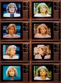 t.v. network newswomen corresponding barbara walters/faith daniels by robert heinecken