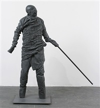 walking with a pointed stick (no hands) by juan muñoz