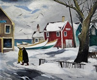 provincetown in winter by tod lindenmuth