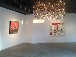 installation view, guy hepner, west hollywood