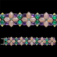 superb 'carpet of gems' bracelet by sibyl dunlop