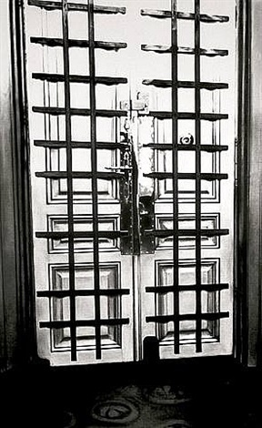 the freud cycle (interior apartment front door with bars - two parts) by robert longo